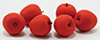 Dollhouse Miniature Red Apples, 6/Pk