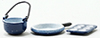 Dollhouse Miniature Spatter Cookware Set/Blue, 3/Pc