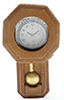 Dollhouse Miniature Railroad Clock, Walnut