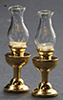 Dollhouse Miniature Non Working  Kerosene Lamps, 2/Pk