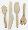 Dollhouse Miniature Wooden Kitchen Utensils, 4/Pc