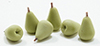 Dollhouse Miniature Pears, 6Pc