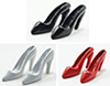 Dollhouse Miniature High Heels, Assorted (Black, White And Red)