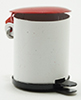 Dollhouse Miniature Garbage Can W/Lid