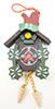 Dollhouse Miniature Painted Cuckoo Clock