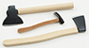 Dollhouse Miniature Axe Set, 3/Pk
