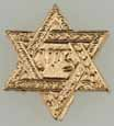 Dollhouse Miniature Star Of David, Gold Color