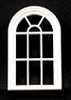 Victorian Round Top Window, 10 Pane, 1/24th Scale
