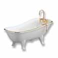 Dollhouse Miniature Reutter's Porcelain Fine Dollhouse Miniature Classic White Bathtub