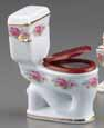 Dollhouse Miniature Reutter's Porcelain Fine Dollhouse Miniature Dresden Rose Toilet