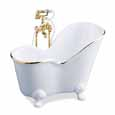 Dollhouse Miniature Reutter Porcelain Classic White Soaking Tub