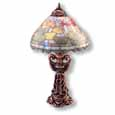 Dollhouse Miniature Reutter's Porcelain Fine Dollhouse Miniature Fruit Shade Table Lamp