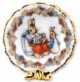 Dollhouse Miniature Peter Rabbit Collector Plate
