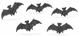 Dollhouse Miniature Micro-Mini Flying Bat, 12pc