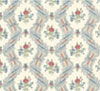 Dollhouse Miniature Wallpaper, Ogee Lace, Cream (Rose)