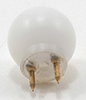 Dollhouse Miniature Round White 12V Pin-In Ceiling Globe