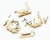 Dollhouse Miniature HL Hinges with Nails, 4/Pk