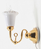 Dollhouse Miniature Wall Sconce, 1-Tulip