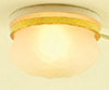 Dollhouse Miniature Frosted Ceiling Light