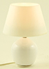 Dollhouse Miniature Glazed Ceramic Table Lamp