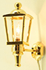 Dollhouse Miniature Brass Carriage Lamp