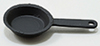 Dollhouse Miniature Small Fry Pan Black
