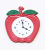 Dollhouse Miniature Clock-Apple