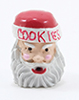 Dollhouse Miniature Santa Cookie Jar