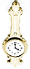Dollhouse Miniature Banjo Clock-Gold
