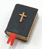 Dollhouse Miniature Black Bible