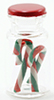 Dollhouse Miniature Candy Canes In Jar