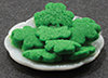 Dollhouse Miniature St. Patrick's Cookies On Plate