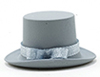 Dollhouse Miniature Top Hat Gray