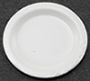 Dollhouse Miniature White Plate 1In Diameter