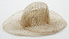 Dollhouse Miniature Straw Hat, Natural 2 1/4
