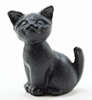 Dollhouse Miniature Black Cat