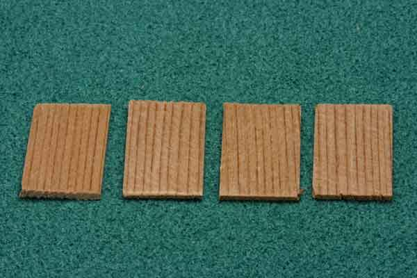 Dollhouse Miniature250Pcs Square Cedar Shingles