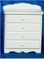 Dollhouse Miniature Baby Chest, White