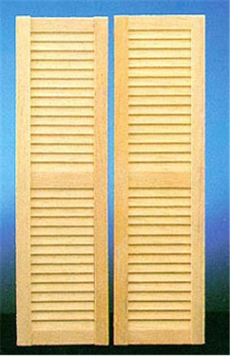 Dollhouse Miniature Louvered Shutters, 2/Pk