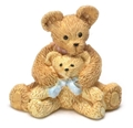 Dollhouse Miniature Mother & Son Bears