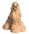Dollhouse Miniature American Cocker Spaniel, Blonde, 1/2In