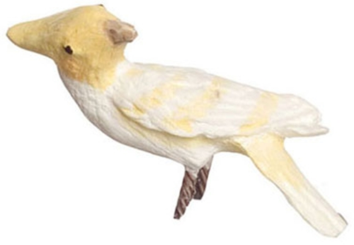 Dollhouse Miniature Lutino Cockatoo