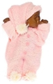 Dollhouse Miniature Brown Baby, Pink