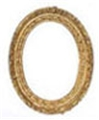 Dollhouse Miniature Medium Oval Frame
