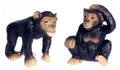 Dollhouse Miniature Two Chimpanzee