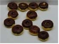 Dollhouse Miniature Chocolate Covered Donuts S/12