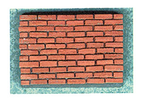 Dollhouse Miniature Common Red Brick Corner, 125 Pcs