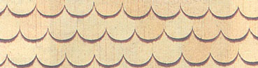 Dollhouse Miniature Handsplit Fishscale Shingles Pine 315Pcs