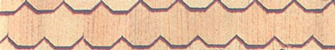 Dollhouse Miniature Handsplit Hexagon Shingles, 625/Pk