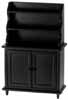 Dollhouse Miniature Hutch, Black